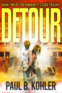 Detour, Clay Dobbs, Zombies, genetic engineering, humanity's edge, sci-fi book