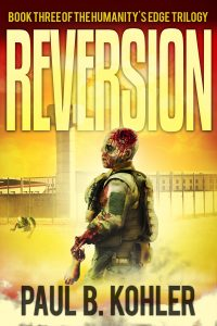 Reversion, Clay Dobbs, Zombies, genetic engineering, humanity's edge, sci-fi book